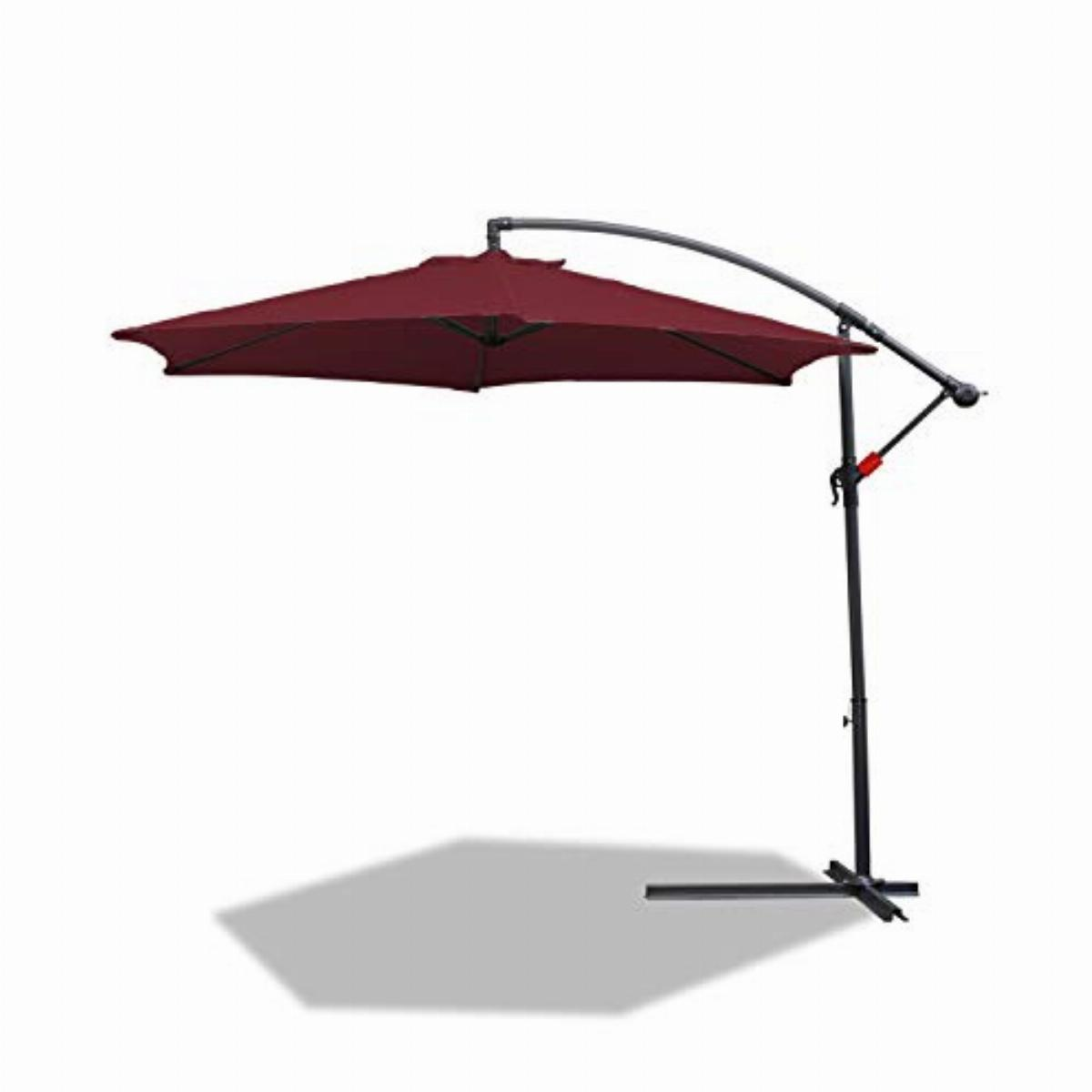 Patio Umbrella Cantilever with heavy duty Cross Bases /& Crank-lift ideal for Commercial And Residential Use BMOT Garden Parasols