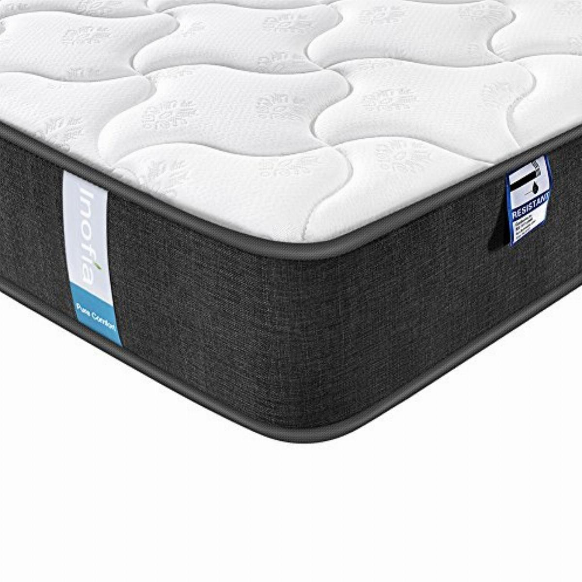 Inofia Sleep 3FT Single Mattress,25cm Gel Infused Memory Foam Mattress,Supportive and Pressure Relief with Breathable Soft Fabric Cover,Medium Firm Feel,CertiPUR-US,100 Night Trial