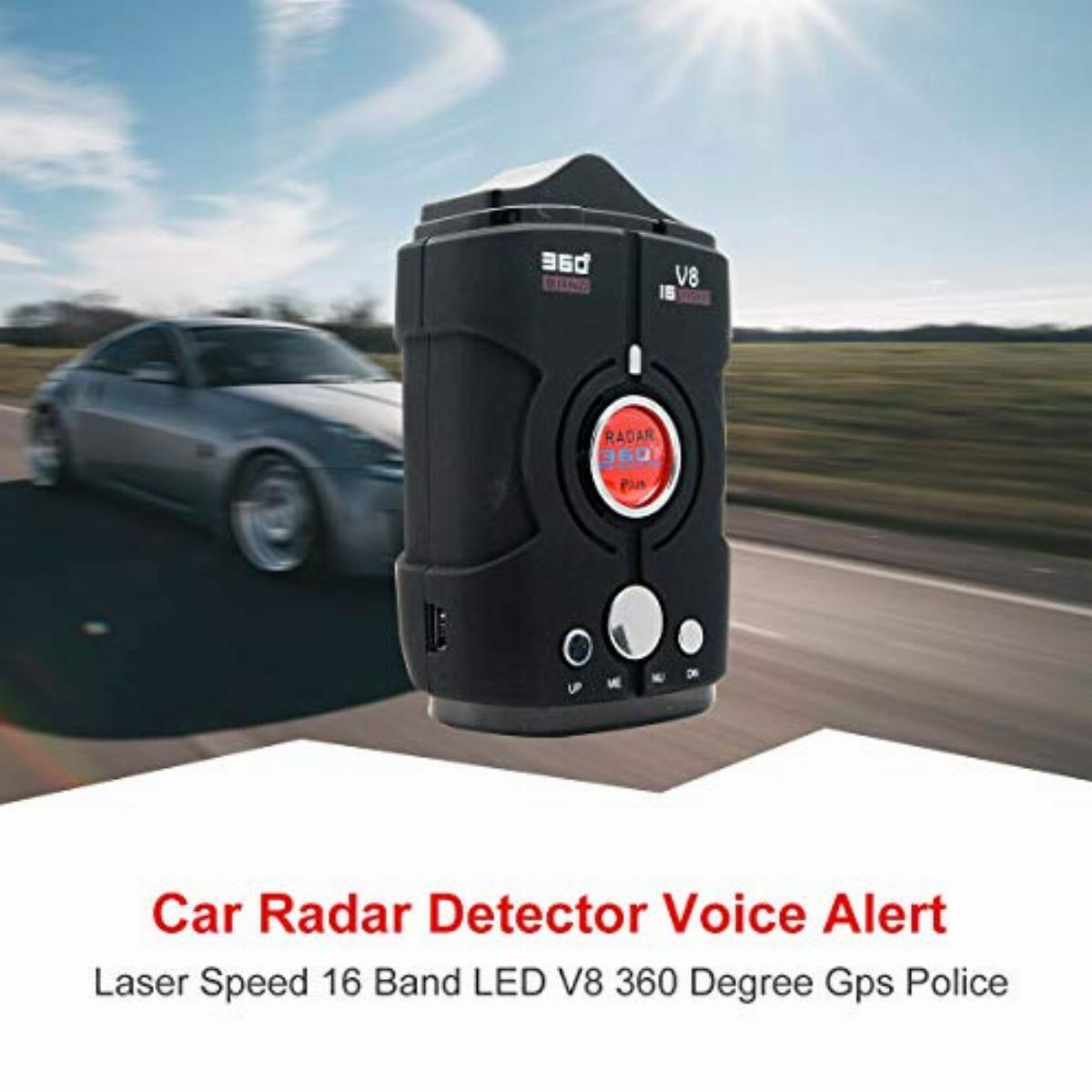 City//Highway Mode Radar Detectors for Cars,MASO Laser Radar Detector with 360 Degree Detection Voice Alert and Speed Alarm System